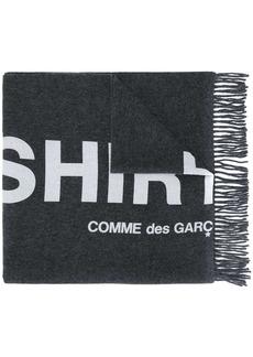 Comme des Garçons graphic-print frayed scarf