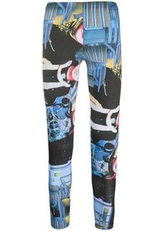 Comme des Garçons graphic print leggings