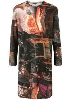 Comme des Garçons graphic-print long line T-shirt