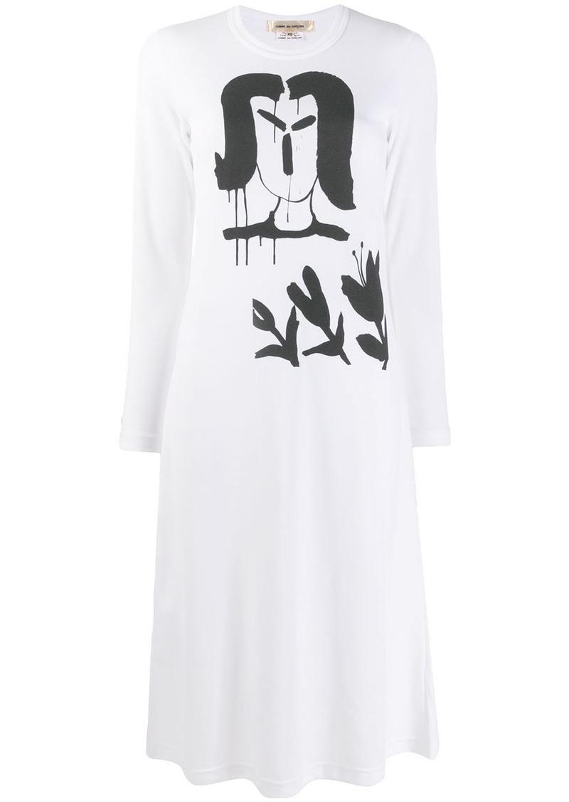 Comme des Garçons graphic print shirt dress