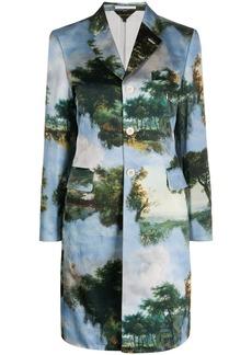 Comme des Garçons graphic print single-breasted coat