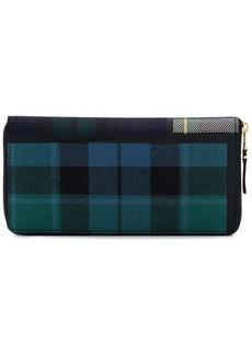 Comme des Garçons green large tartan print wallet