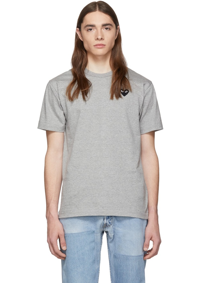 Comme des Garçons Grey & Black Heart Patch T-Shirt
