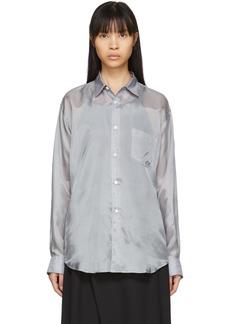 Comme des Garçons Grey Cupro Taffeta Forever Shirt