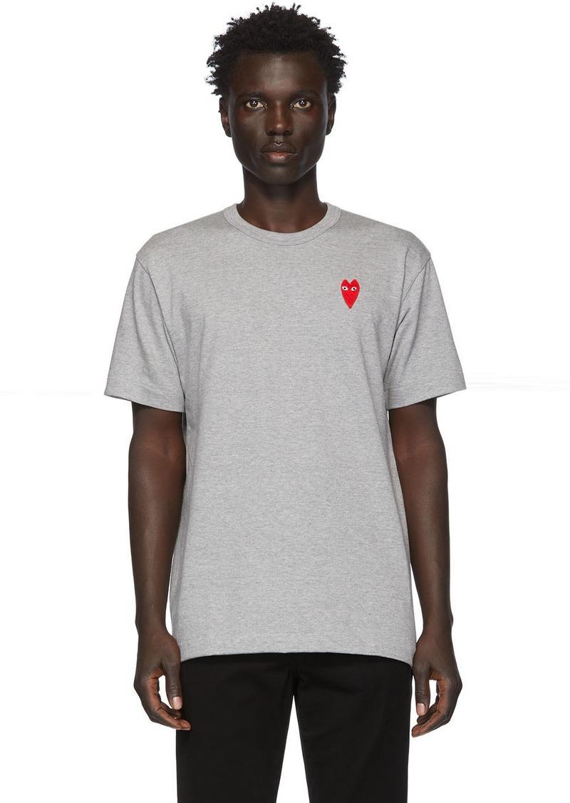 Comme des Garçons Grey Long Heart Patch T-Shirt