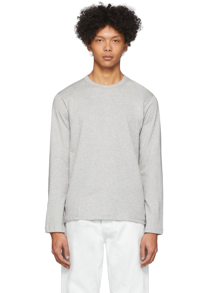 Comme des Garçons Grey Plain Long Sleeve T-Shirt