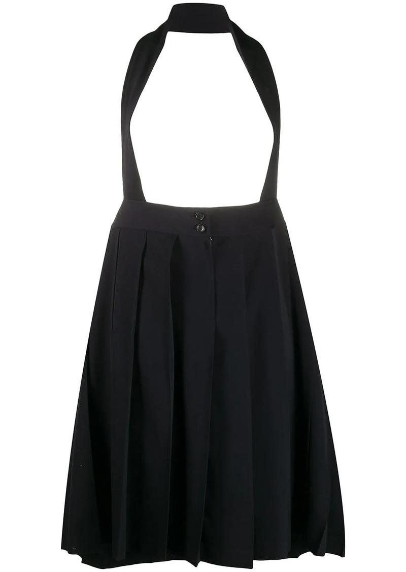 Comme des Garçons halter-neck pleated pinafore skirt