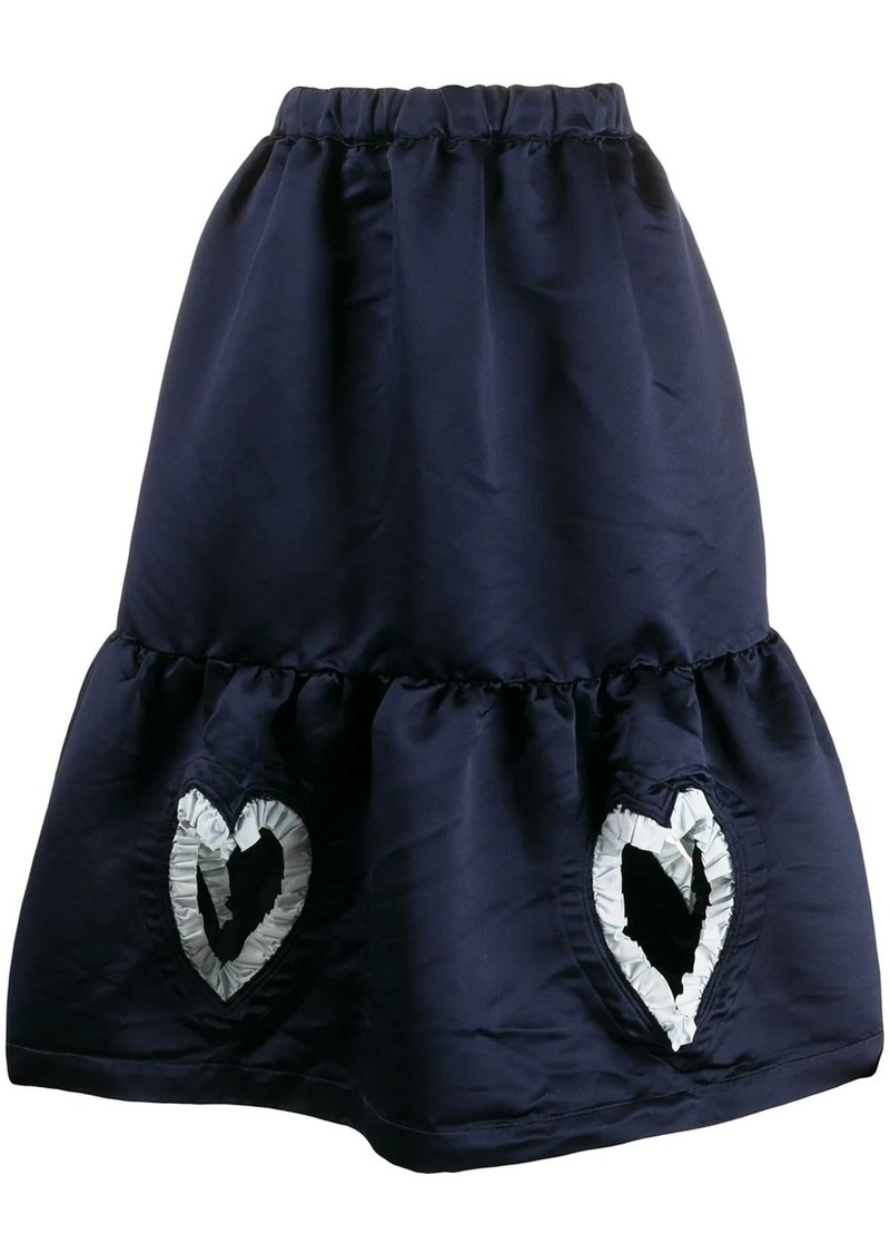 Comme des Garçons heart detailed skirt