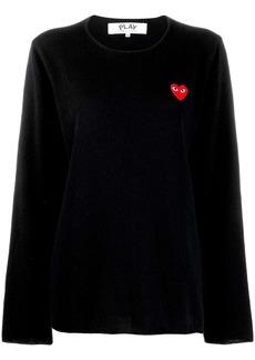 Comme des Garçons heart motif sweater