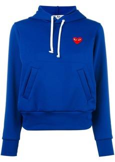 Comme des Garçons heart patch hoodie