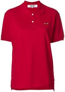 Comme des Garçons heart patched polo shirt