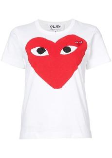 Comme des Garçons heart print and application T-shirt