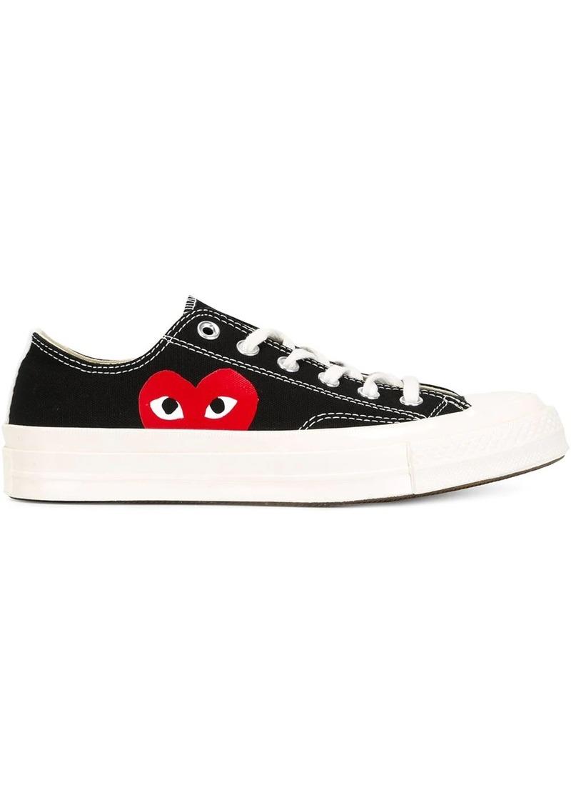 Comme des Garçons heart print lace-up sneakers