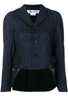 Comme des Garçons high-low hem fitted jacket