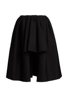 Comme des Garçons High-Low Pleated Pull-On Skirt