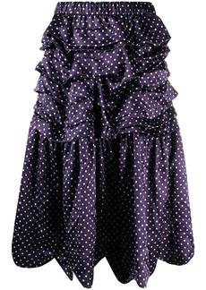 Comme des Garçons high-waisted dotted skirt