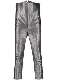 Comme des Garçons high-waisted metallic trousers