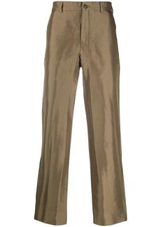 Comme des Garçons high-waisted straight leg trousers