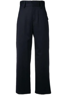 Comme des Garçons high-waisted straight trousers