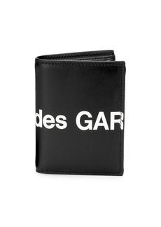 Comme des Garçons Huge Logo Leather Bi-Fold Wallet
