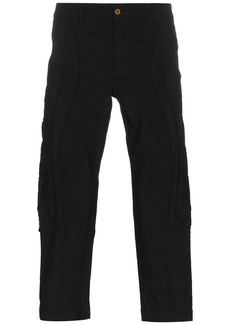 Comme des Garçons Irregular Stitching Cropped Trousers