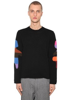 Comme des Garçons Jacquard Wool Blend Knit Sweater