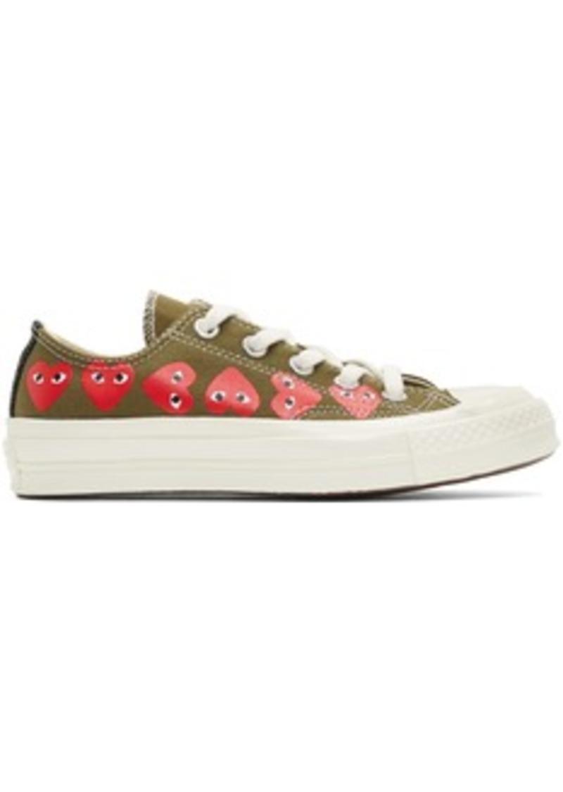 Comme des Garçons Khaki Converse Edition Multiple Heart Chuck 70 Low Sneakers