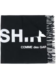 Comme des Garçons knitted logo scarf