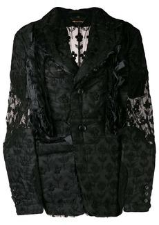 Comme des Garçons lace button-down jacket