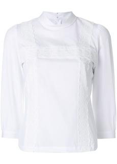 Comme des Garçons lace detail high-neck blouse