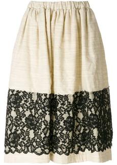 Comme des Garçons lace panel skirt