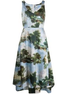 Comme des Garçons landscape print A-line dress