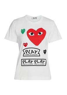 Comme des Garçons Large Heart Play T-Shirt