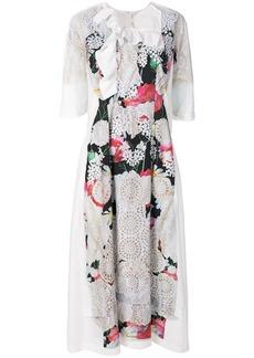 Comme des Garçons laser cut floral dress