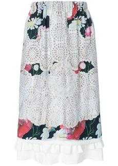 Comme des Garçons laser-cut floral midi skirt