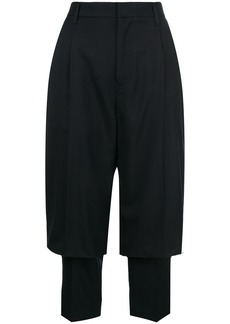 Comme des Garçons layered cropped trousers