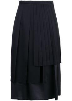 Comme des Garçons layered mid-length skirt
