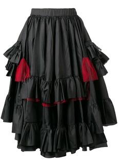 Comme des Garçons layered pleated skirt