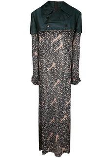 Comme des Garçons layered printed dress