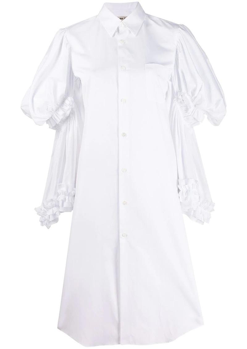 Comme des Garçons layered-sleeve shirt dress