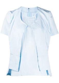 Comme des Garçons layered style distressed detail blouse