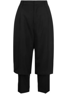 Comme des Garçons layered tailored cropped trousers