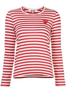 Comme des Garçons little red heart striped T-shirt