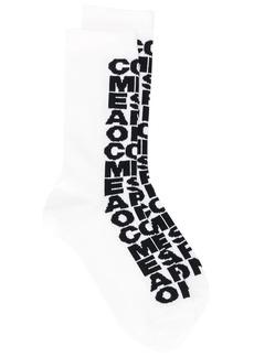 Comme des Garçons logo intarsia knit socks