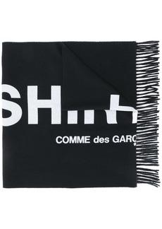 Comme des Garçons logo intarsia wool scarf