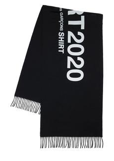 Comme des Garçons Logo Jacquard Wool Scarf