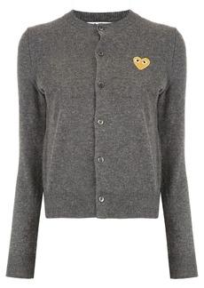 Comme des Garçons logo-patch knitted cardigan