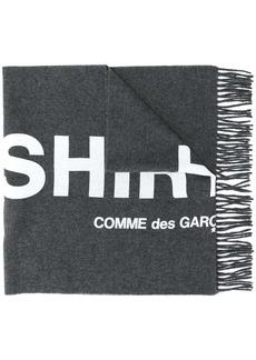 Comme des Garçons logo-print fringe scarf