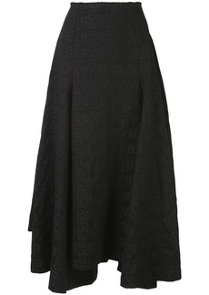Comme des Garçons logo print full skirt