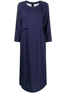 Comme des Garçons long geometric-print dress